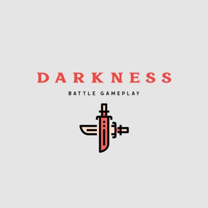 Gaming Logo Creator Featuring a Swords Clipart 312b-el1