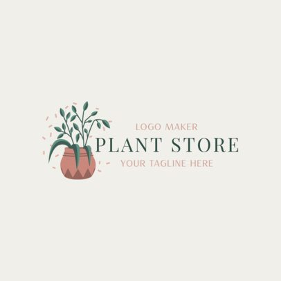 Minimalistic Logo Template for a Plant Store 2839