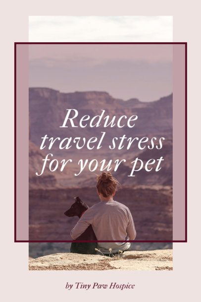 Pinterest Pin Creator Featuring Travel Tips for Pets 2150b