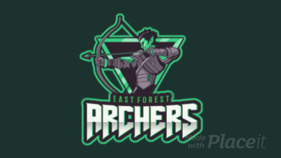 Gaming Logo Maker Featuring a Cool Animated Archer Clipart 1741a