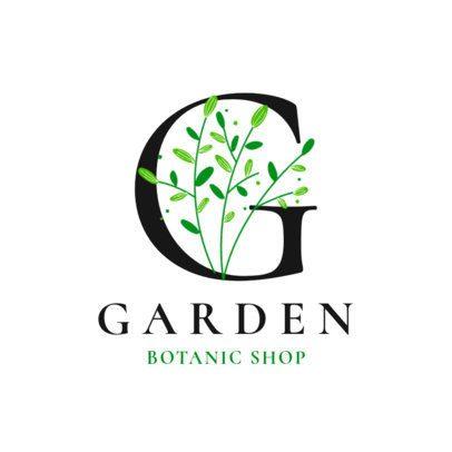 Monogram Logo Maker for Plant Shops 2840