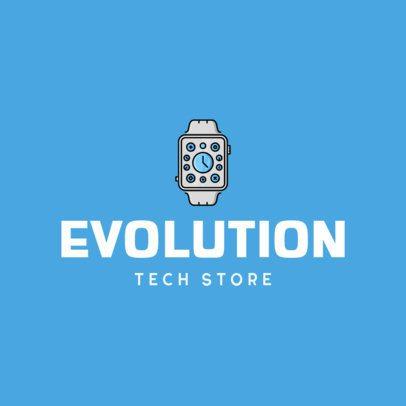 Tech Store Logo Maker Featuring a Smartwatch Icon 337c-el1