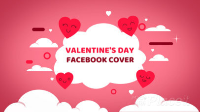 Valentine's Day-Themed Facebook Cover Video Maker With Cute Animated Hearts 2024