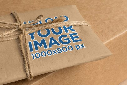 Kraft Paper Mockup Wrapped with a Cord 1298-el1