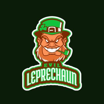 Sports Logo Maker Featuring an Evil Leprechaun 523l-2860