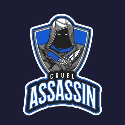 Gaming Logo Maker Featuring a Hooded Assassin a29l-2860