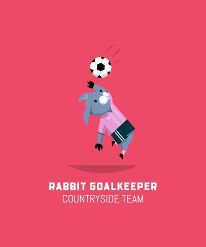Soccer T-Shirt Design Maker with a Bunny Illustration 208a-el1