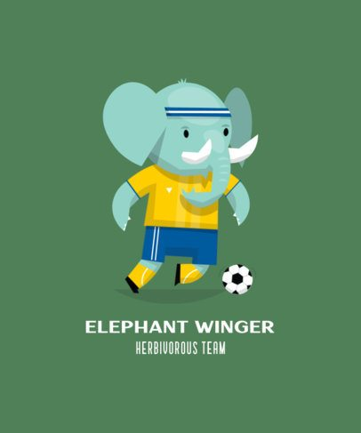 Sports T-Shirt Maker with the Illustration of an Elephant 208c-el1