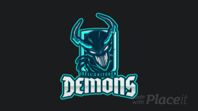 Animated Gaming Logo Maker with Demon Graphics 1750a