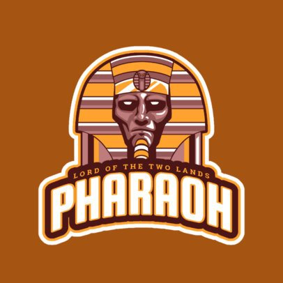 Sports Logo Generator Featuring a Pharaoh Illustration 523n-2858