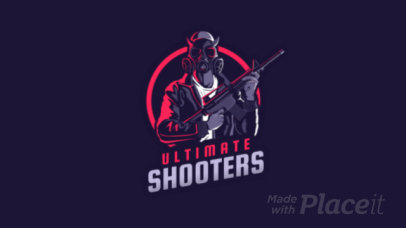 Animated Battle Royale Logo Maker Featuring a PUBG Character 1747f