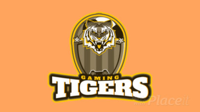 Animated Gaming Logo Maker with Tiger Graphics 1748d
