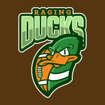 Football Logo Maker Featuring an Angry Duck Illustration 120j-2861