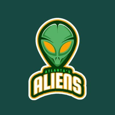 Team Logo Generator Featuring an Alien 523j-2861