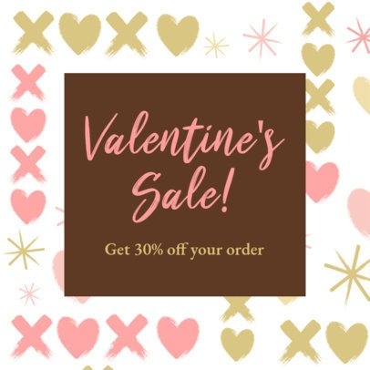 Instagram Post Maker for a Valentine's Day Discount 2142b