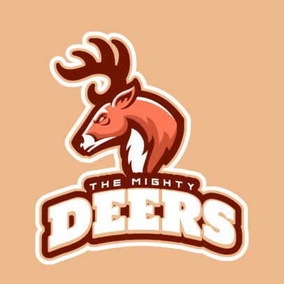 Sports Logo Template with a Mad Deer Graphic 21x-2859