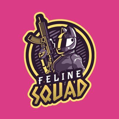 Game Team Logo Maker Featuring a Kawaii Female Shooter 1743r-2862
