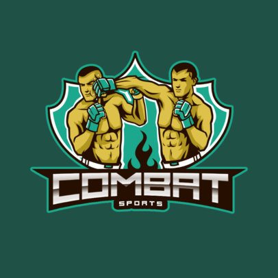 Sports Logo Generator Featuring an MMA Combat Illustration 2848d