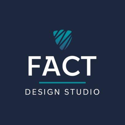 Design Studio Logo Maker Featuring a Shield Icon 551a-el1