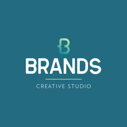 Logo Maker for a Creative Studio with an Abstract Icon 551c-el1