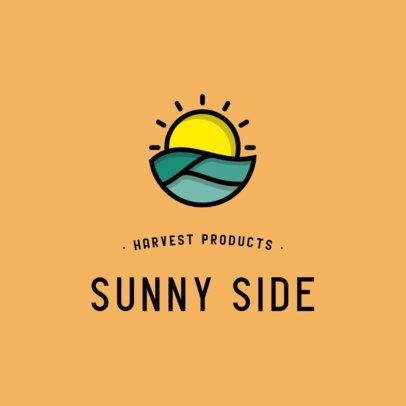 Logo Generator for Harvest Products Featuring a Sun Graphic 553b-el1