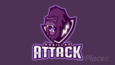 Animated Sports Logo Maker with a Frightening Gorilla Graphic 1560j-2862