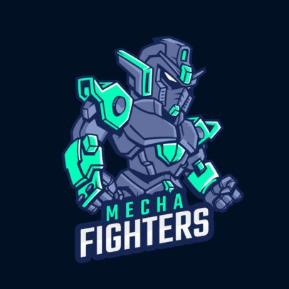 Gaming Logo Template Featuring a Fighter Robot Illustration 1747aa-2857