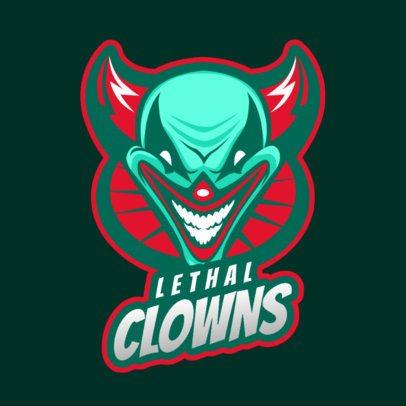 Logo Maker for Gaming Teams Featuring an Evil Clown Illustration 2407b 2857