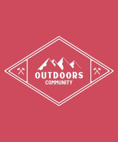 T-Shirt Design Maker for an Outdoor Adventure Community 209a-el1