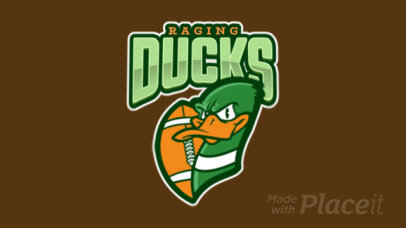 Animated Football Logo Maker Featuring an Angry Duck Illustration 120j-2861
