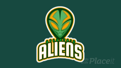 Animated Team Logo Generator Featuring an Alien 523j-2861