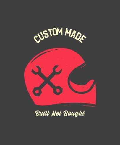 T-Shirt Design Maker for Bikers Featuring an Illustrated Helmet 2134c