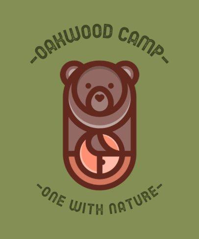 T-Shirt Design Template for a Summer Camp 554-el1