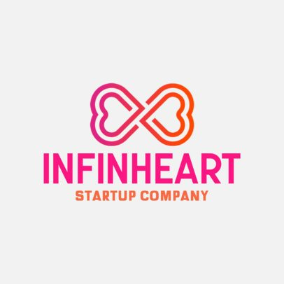 Logo Template Featuring an Infinite Heart Icon 556b-el1
