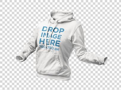 Invisible Model Mockup of a Women's Hoodie a9140