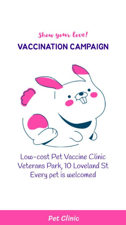 Instagram Story Generator for a Pet Vaccination Campaign 2145b