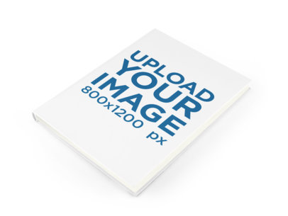 Hardcover Book Mockup Lying on a Surface a11609