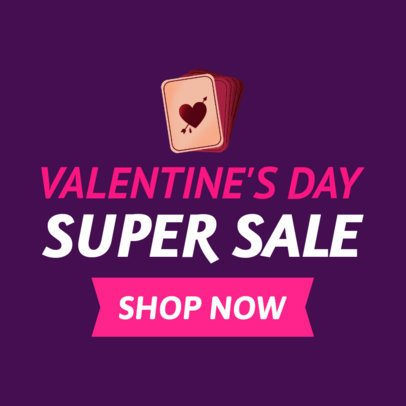 Online Banner Maker for a Valentine's Super Sale 1049h-2143