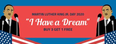 Facebook Cover Template for a MLK Day Promo 2141b