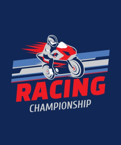 T-Shirt Design Generator for a Bikers Racing Championship 2133b