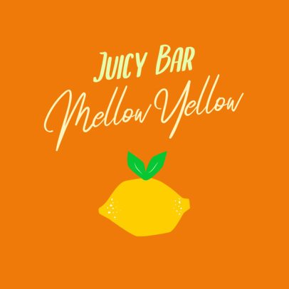Superfoods Logo Template for a Juice Bar with an Orange Graphic 2841f