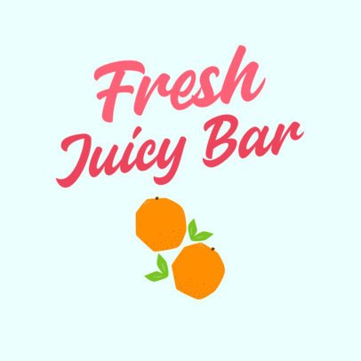 Juice Bar Logo Maker Featuring Fresh Oranges Clipart 2841i