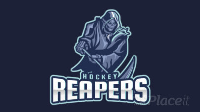 Animated Sports Logo Maker for a Hockey Team with a Death Graphic 1560j-2859