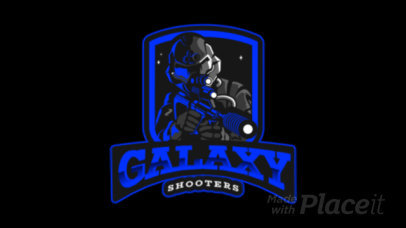 Animated Gaming Logo Maker Featuring a Masked Soldier with a Gun 383m 2290