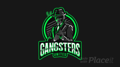 Gaming Logo Maker Featuring an Animated Suited Mafia Gangster Clipart 383o 2290