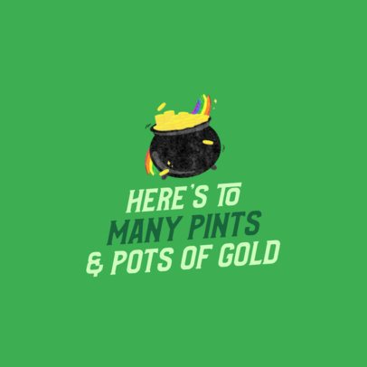 Holiday Facebook Post Template Featuring St Patricks Day Graphics 2180