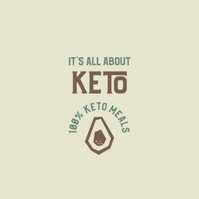 Keto Restaurant Logo Maker with an Avocado Icon 2842c