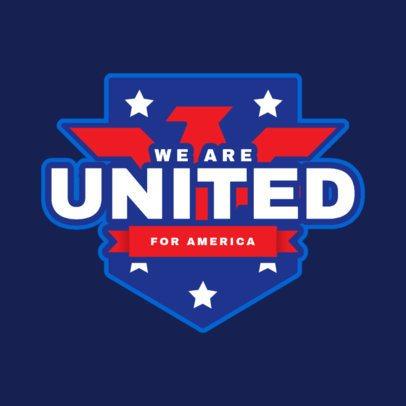 Political Logo Template Featuring American Emblems 2868
