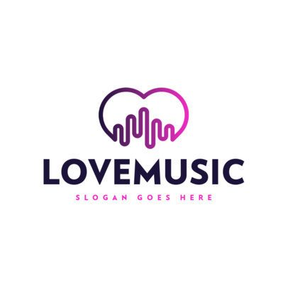 Simple Music Logo Maker with Melodic Icons 591-el1