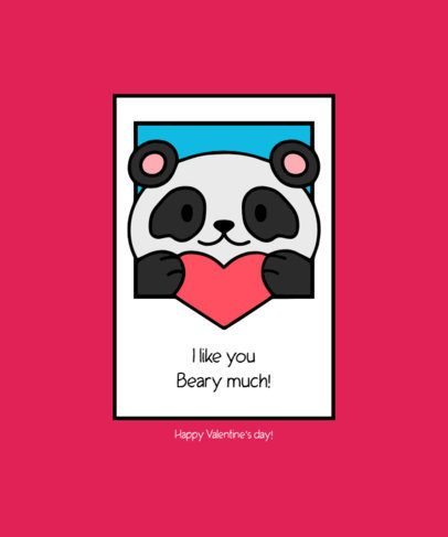 Valentine's Day-Themed T-Shirt Design Maker Featuring Cute Animals Illustrations 219-el1
